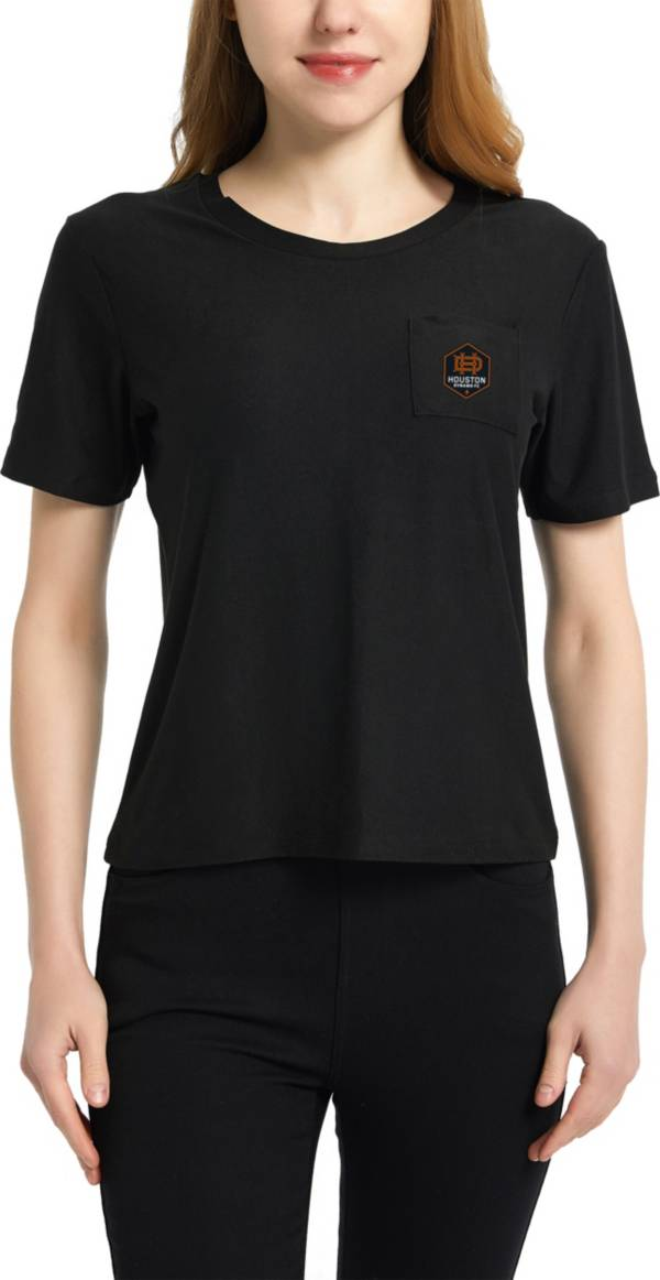 Concepts Sport Women's Houston Dynamo Zest Black Short Sleeve Top product image