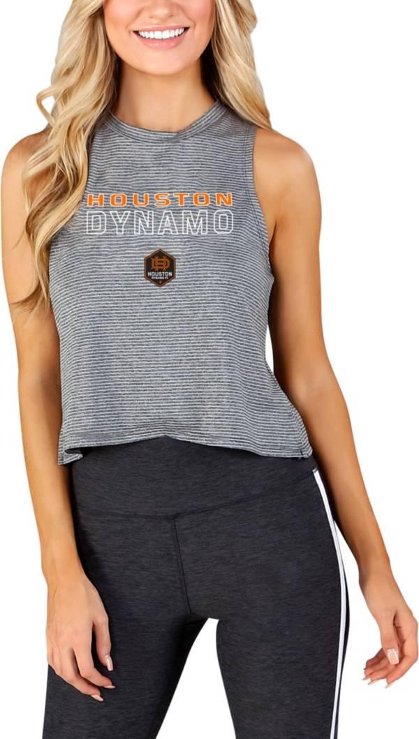 Concepts Sport Women's Houston Dynamo Centerline Charcoal Short Sleeve Top product image