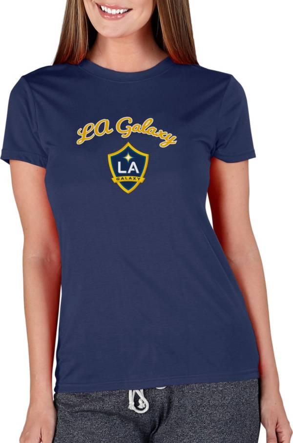 Concepts Sport Women's Los Angeles Galaxy Marathon Navy Short Sleeve Top product image