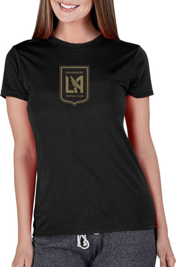 Concepts Sport Women's Los Angeles FC Marathon Black Short Sleeve Top product image