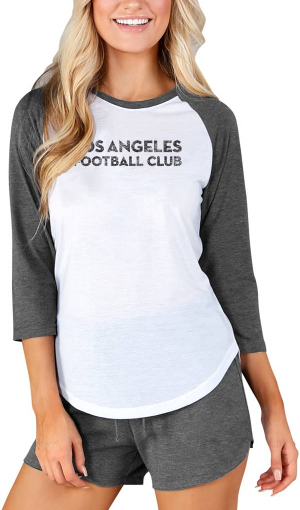Concepts Sport Women's Los Angeles FC Crescent White Long Sleeve Top product image