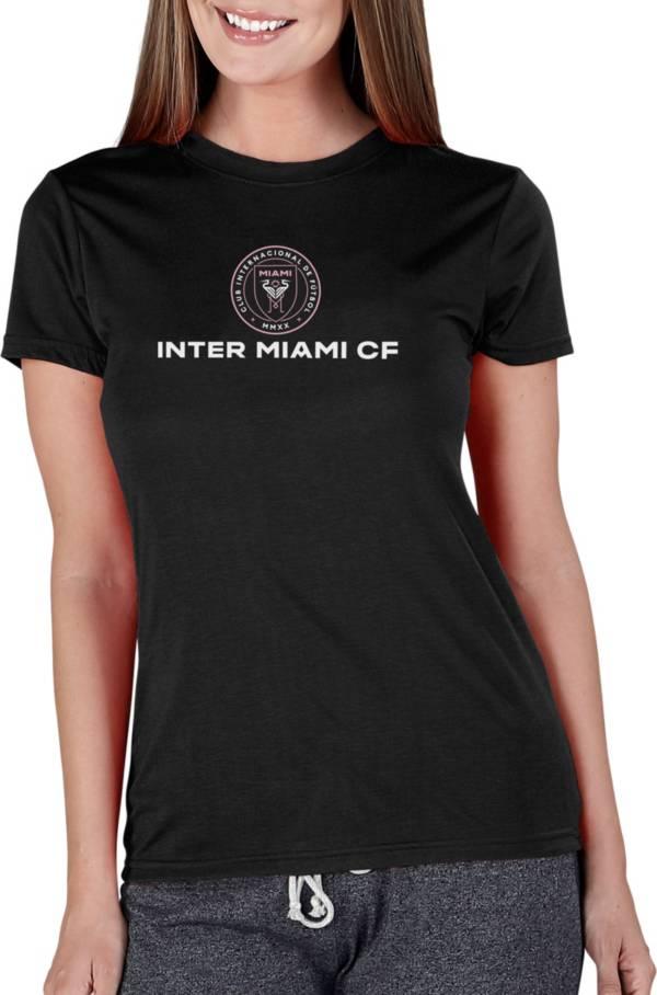 Concepts Sport Women's Inter Miami CF Marathon Black Short Sleeve Top product image
