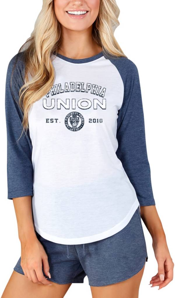 Concepts Sport Women's Philadelphia Union Crescent White Long Sleeve Top product image