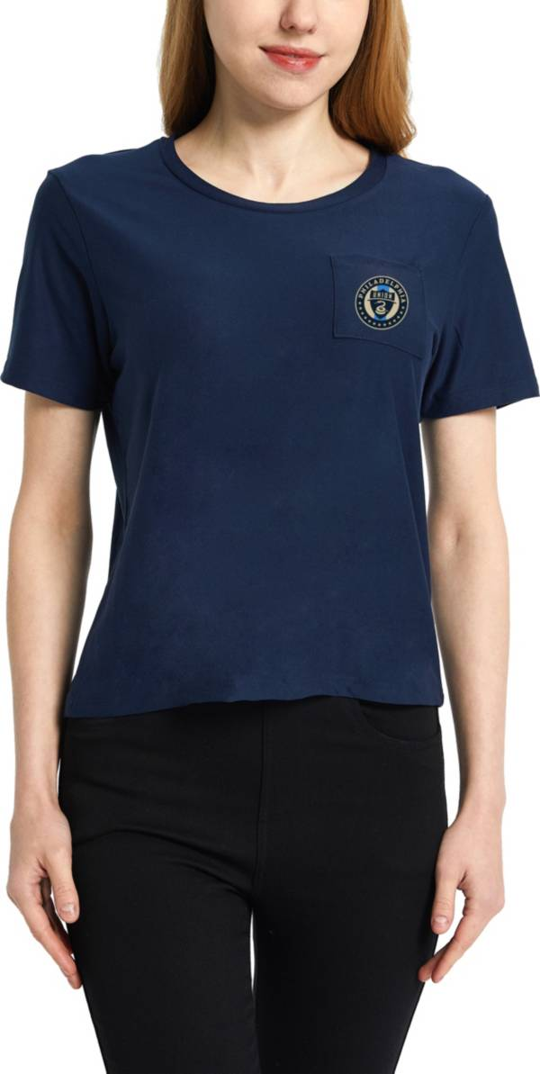 Concepts Sport Women's Philadelphia Union Zest Navy Short Sleeve Top product image