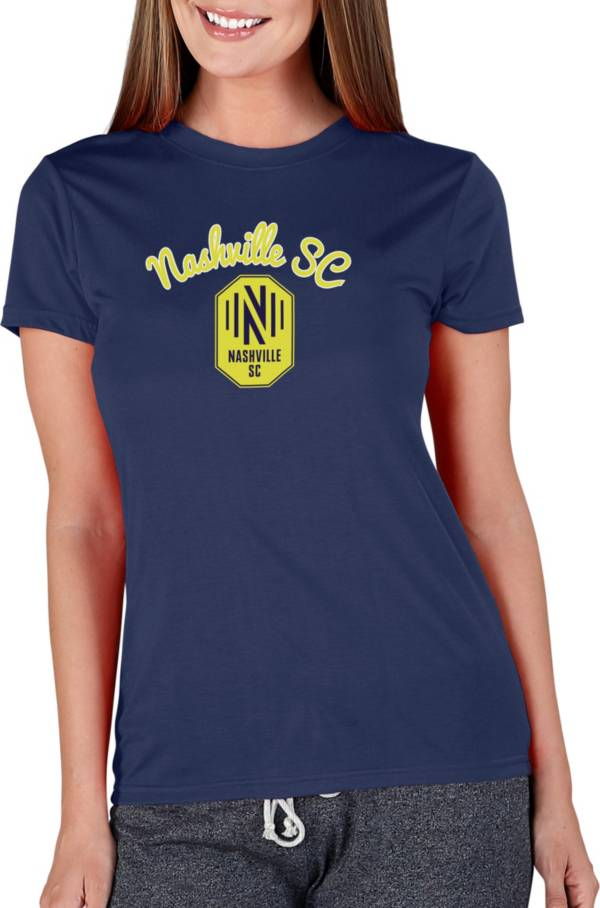 Concepts Sport Women's Nashville SC Marathon Navy Short Sleeve Top product image