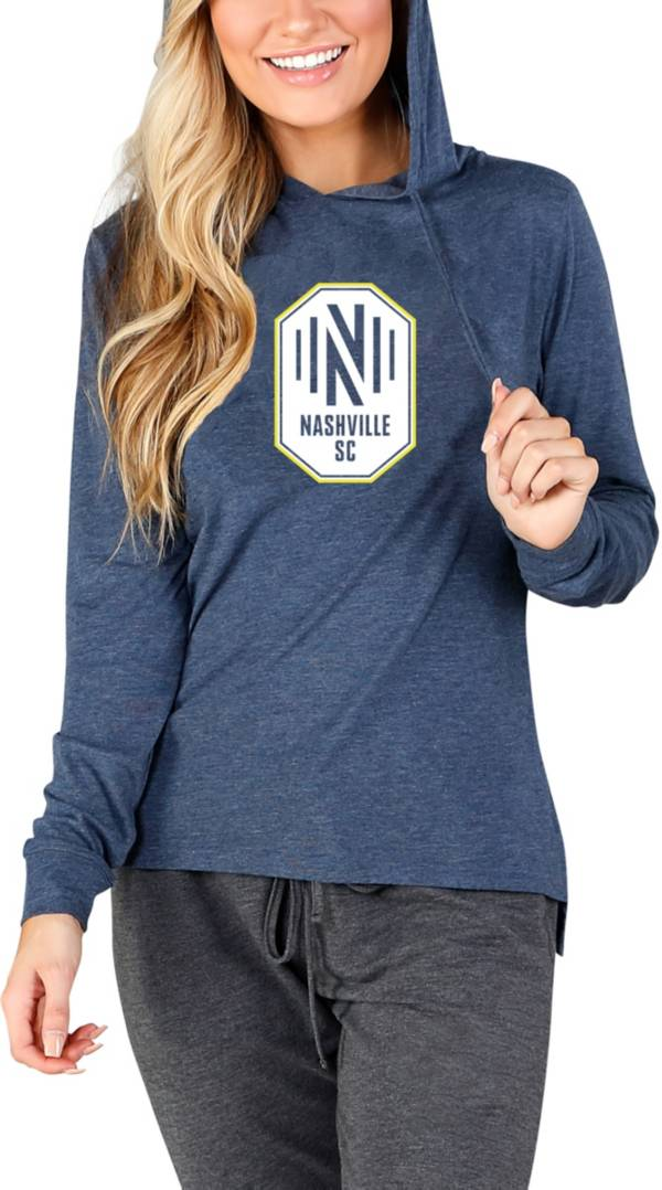 Concepts Sport Women's Nashville SC Crescent Navy Long Sleeve Top product image