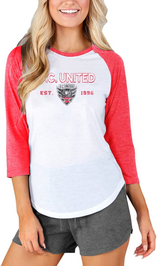 Concepts Sport Women's D.C. United Crescent White Long Sleeve Top product image