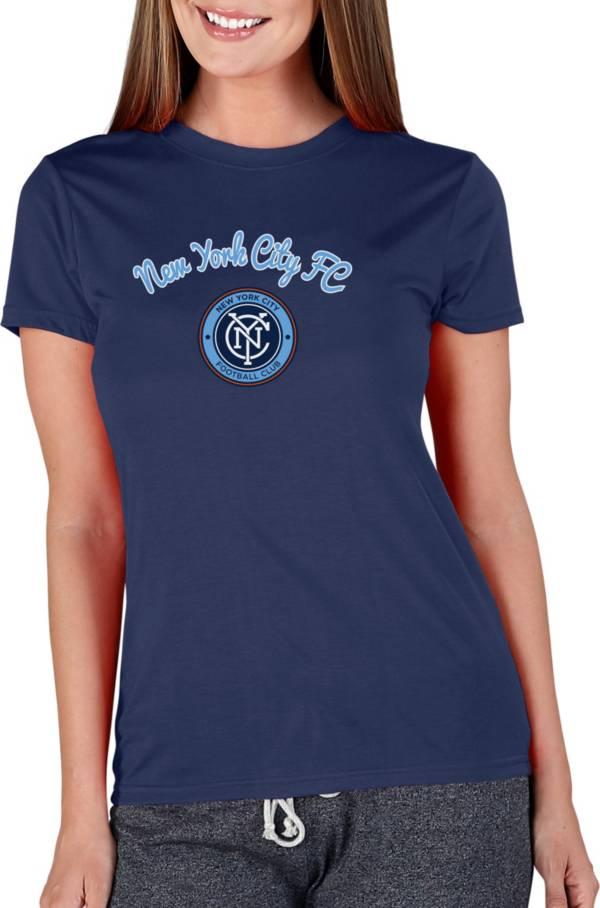 Concepts Sport Women's New York City FC Marathon Navy Short Sleeve Top product image