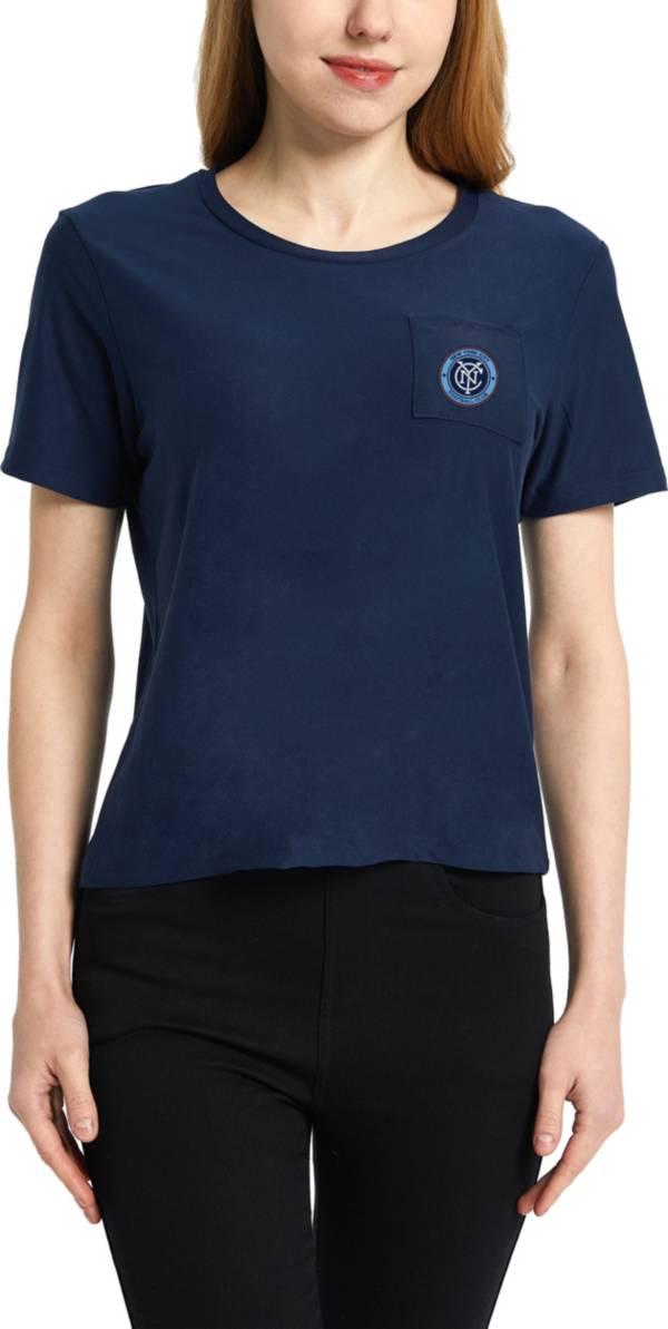 Concepts Sport Women's New York City FC Zest Navy Short Sleeve Top product image
