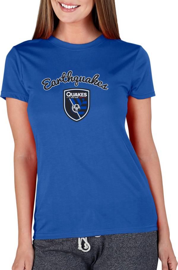 Concepts Sport Women's San Jose Earthquakes Marathon Royal Short Sleeve Top product image