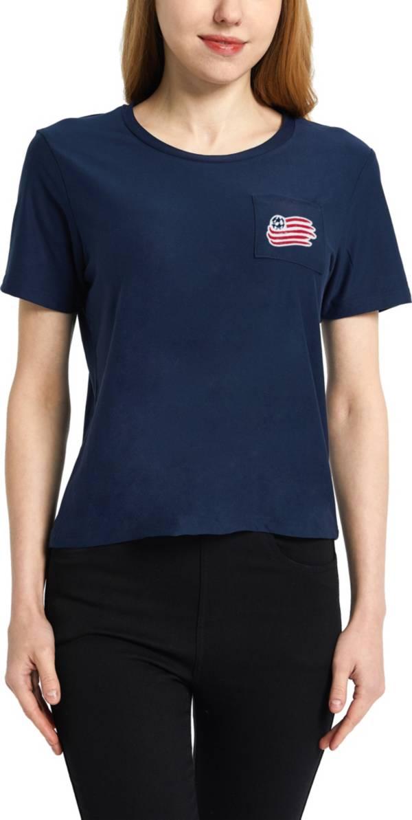 Concepts Sport Women's New England Revolution Zest Navy Short Sleeve Top product image