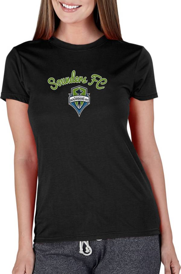 Concepts Sport Women's Seattle Sounders Marathon Black Short Sleeve Top product image