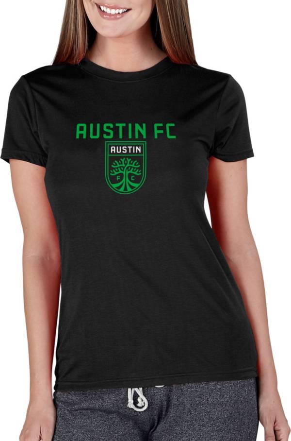 Concepts Sport Women's Austin FC Marathon Black Short Sleeve Top product image