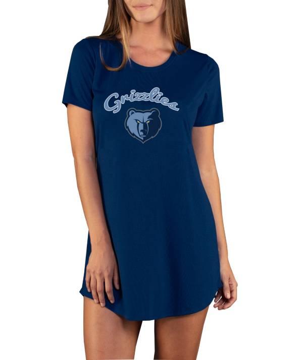 Concepts Sport Women's Memphis Grizzlies Marathon Navy Night T-Shirt product image