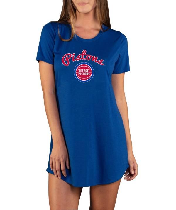 Concepts Sport Women's Detroit Pistons Marathon Blue Night T-Shirt product image