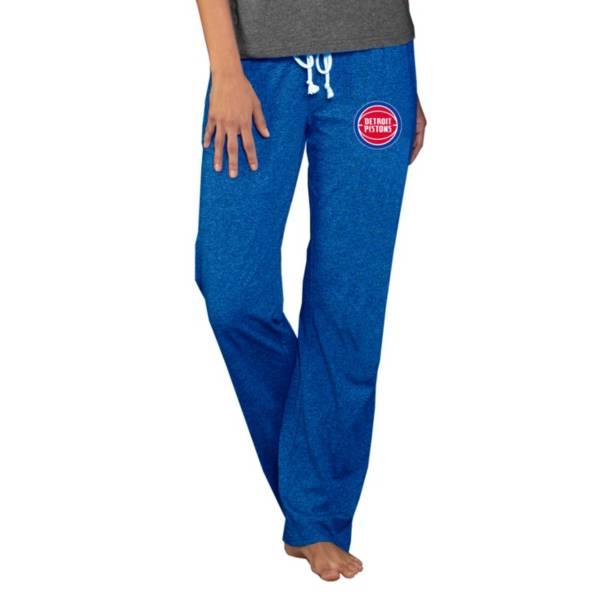 Concepts Sport Women's Detroit Pistons Quest Blue Jersey Pants product image