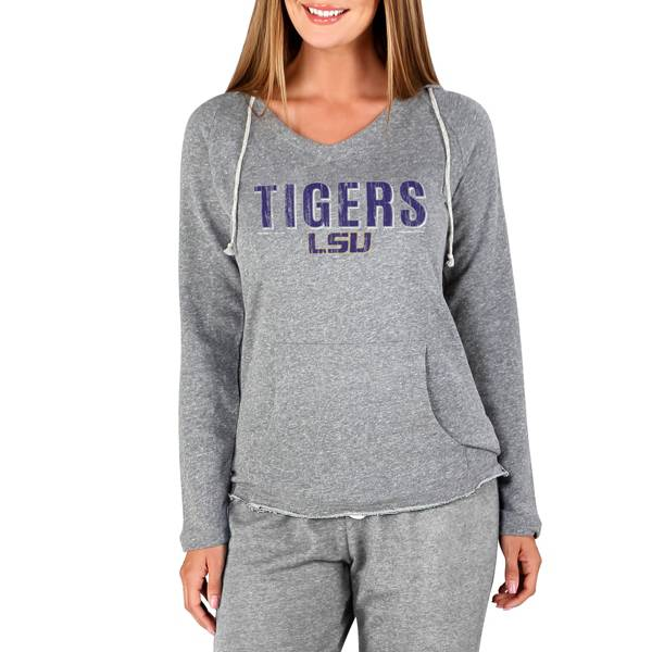 Concepts Sport Women's LSU Tigers Mainstream Grey Terry Pullover Hoodie product image