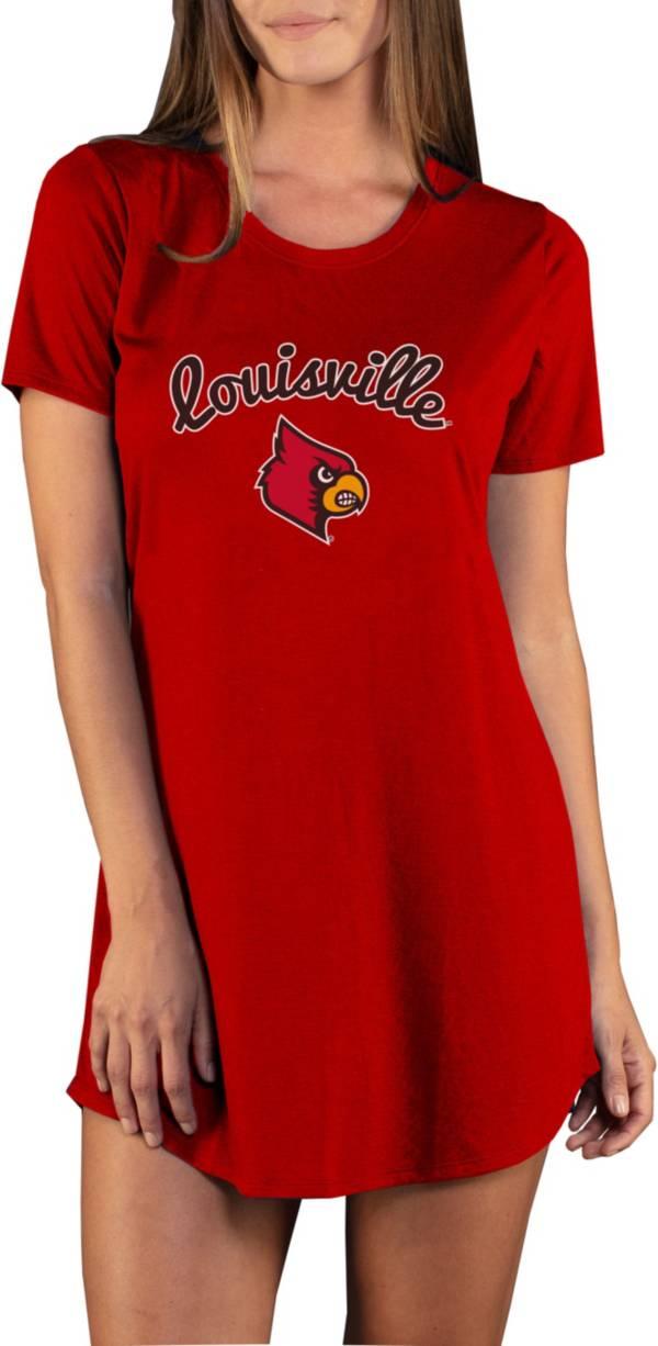 Concepts Sport Women's Louisville Cardinals Cardinal Red Night Shirt product image