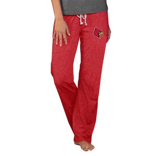 Concepts Sport Women's Louisville Cardinals Cardinal Red Quest Knit Pants product image