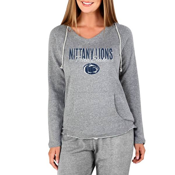 Concepts Sport Women's Penn State Nittany Lions Mainstream Grey Terry Pullover Hoodie product image