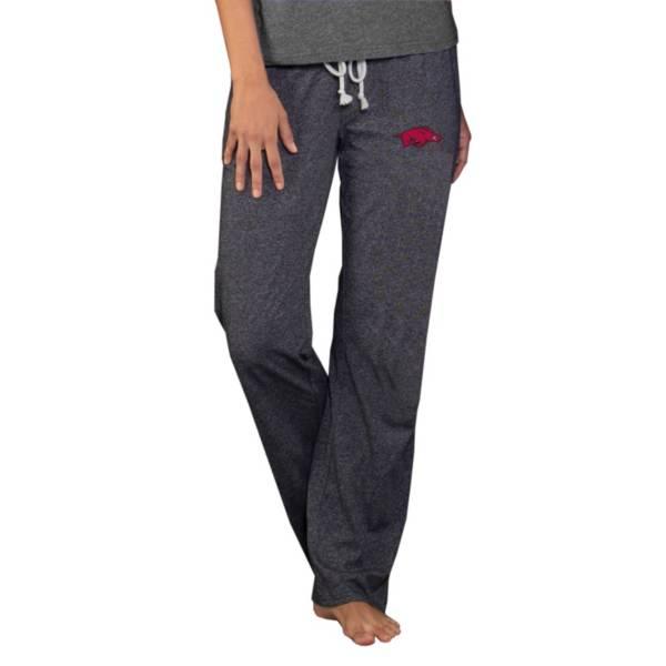 Concepts Sport Women's Arkansas Razorbacks Quest Grey Knit Pants product image