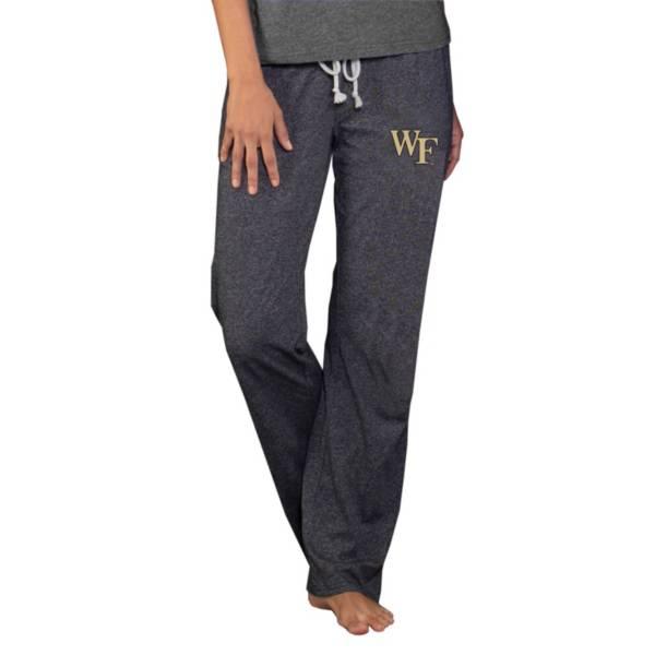 Concepts Sport Women's Wake Forest Demon Deacons Grey Quest Knit Pants product image
