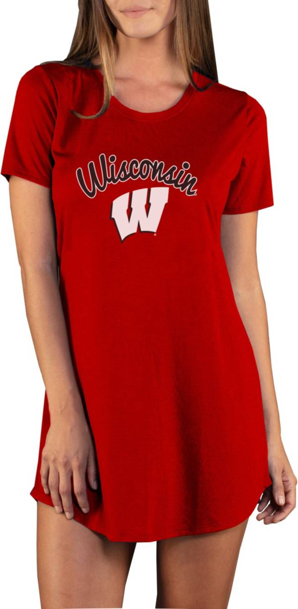 Concepts Sport Women's Wisconsin Badgers Red Night Shirt product image