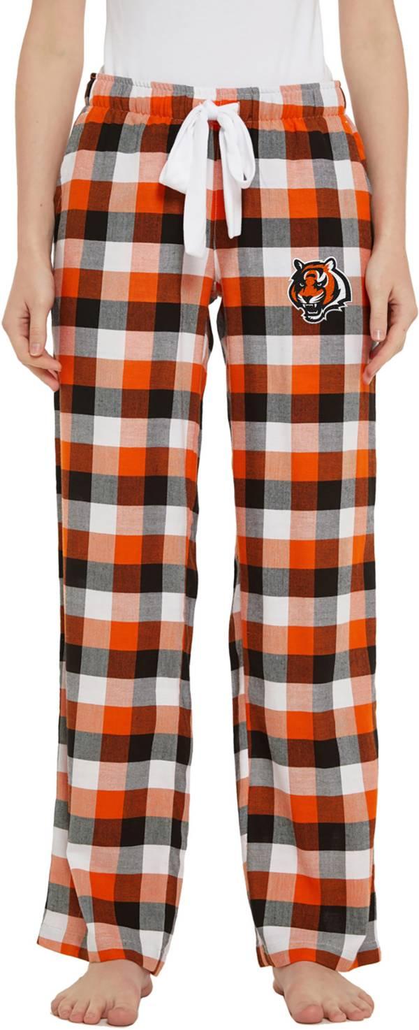 Concepts Sport Women's Cincinnati Bengals Breakout Black Flannel Pants product image