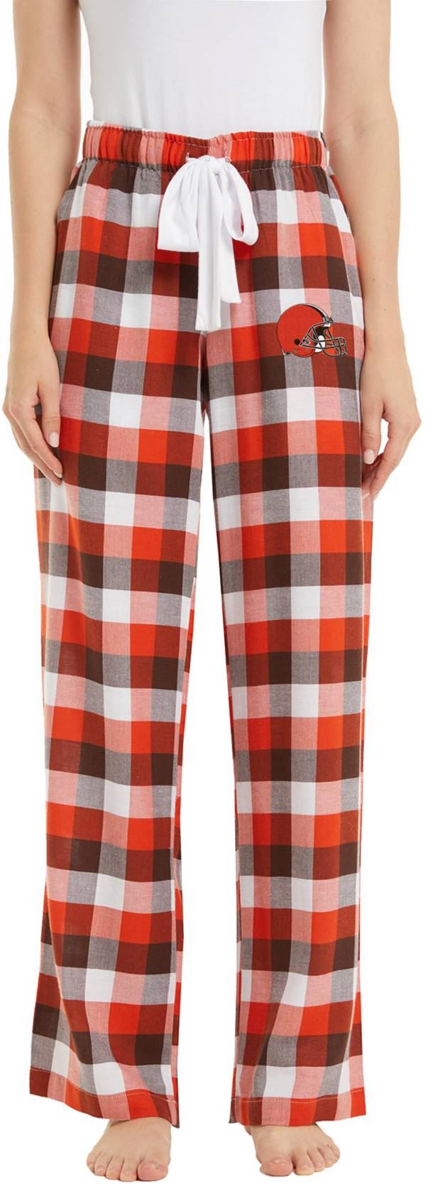 Concepts Sport Women's Cleveland Browns Breakout Brown Flannel Pants product image