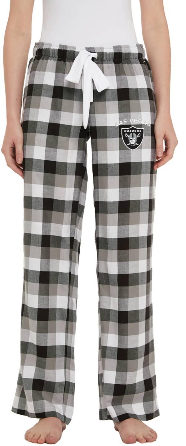 Concepts Sport Women's Las Vegas Raiders Breakout Black Flannel Pants product image