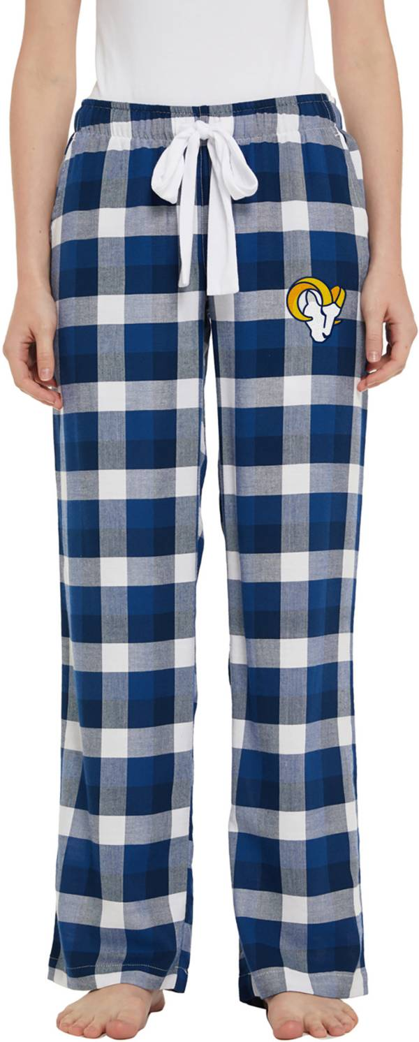 Concepts Sport Women's Los Angeles Rams Breakout Navy Flannel Pants product image