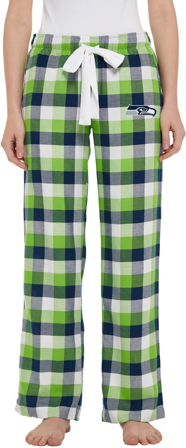 Concepts Sport Women's Seattle Seahawks Breakout Navy Flannel Pants product image