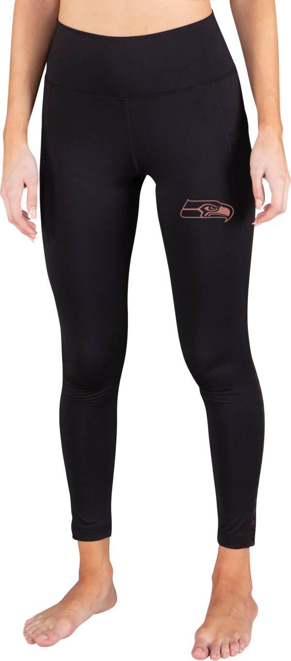Concepts Sport Women's Seattle Seahawks Black Frontline Leggings product image
