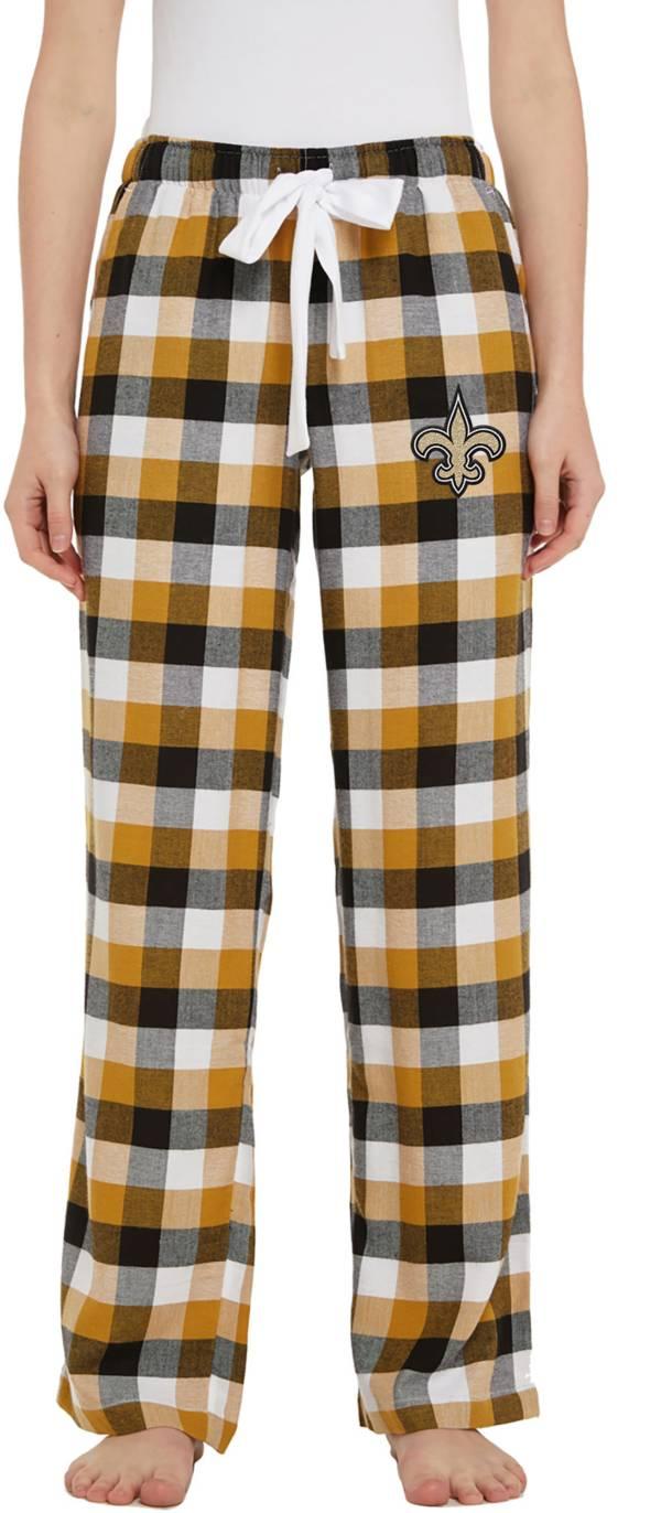 Concepts Sport Women's New Orleans Saints Breakout Black Flannel Pants product image