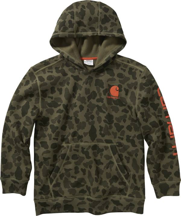 Carhartt Boys' Camo Hooded Long Sleeve Sweatshirt product image