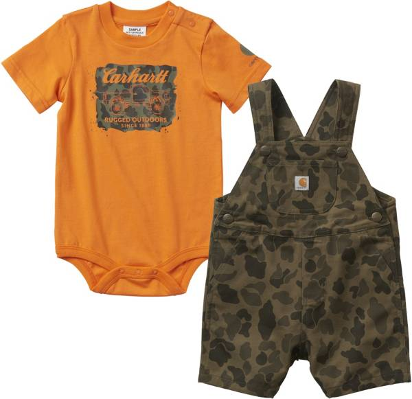 Carhartt infant Boys' Onesie and Shortall Set product image