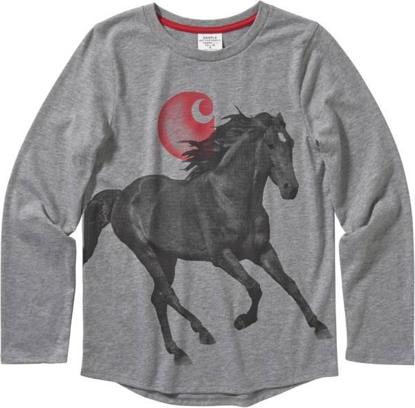 Carhartt Youth Boys' Heather Horse Long Sleeve Shirt product image