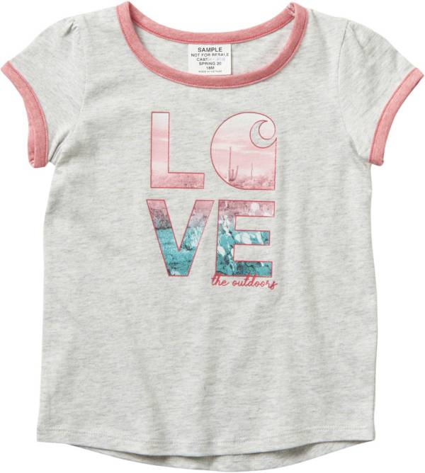 Carhartt Toddler Girls' Love C Ringer Short Sleeve T-Shirt product image