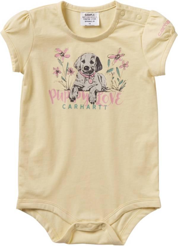 Carhartt Infant Girls' Puppy Love Short Sleeve Onesie product image