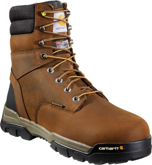 """Carhartt Men's Ground Force 8"""" Brown Waterproof Soft Toe product image"""