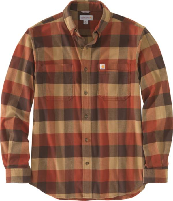 Carhartt Men's Rugged Flex Relaxed Fit Flannel Long Sleeve Plaid Shirt product image