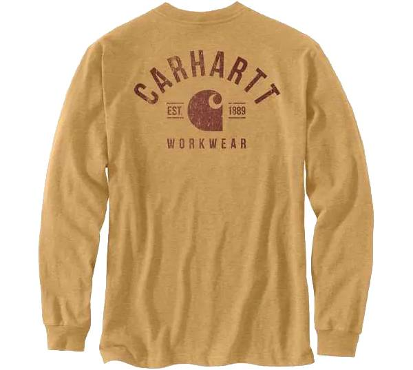 Carhartt Men's Relaxed Fit Heavyweight Long Sleeve Pocket Logo Graphic T-Shirt product image