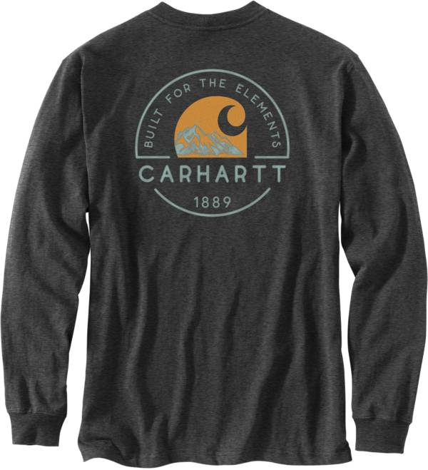 Carhartt Men's Built For The Elements Graphic Long Sleeve Pocket T-Shirt product image