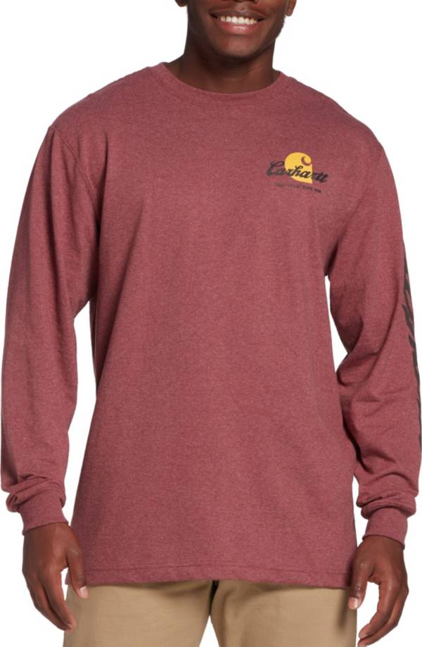 Carhartt Men's Original Fit Heavyweight Logo Graphic Long Sleeve T-Shirt product image