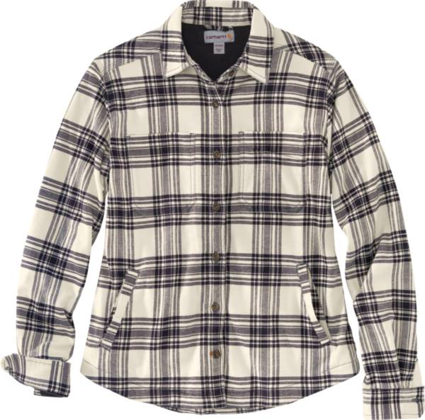 Carhartt Women's Rugged Flex Relaxed Fit Flannel Fleece Lined Plaid Shirt product image