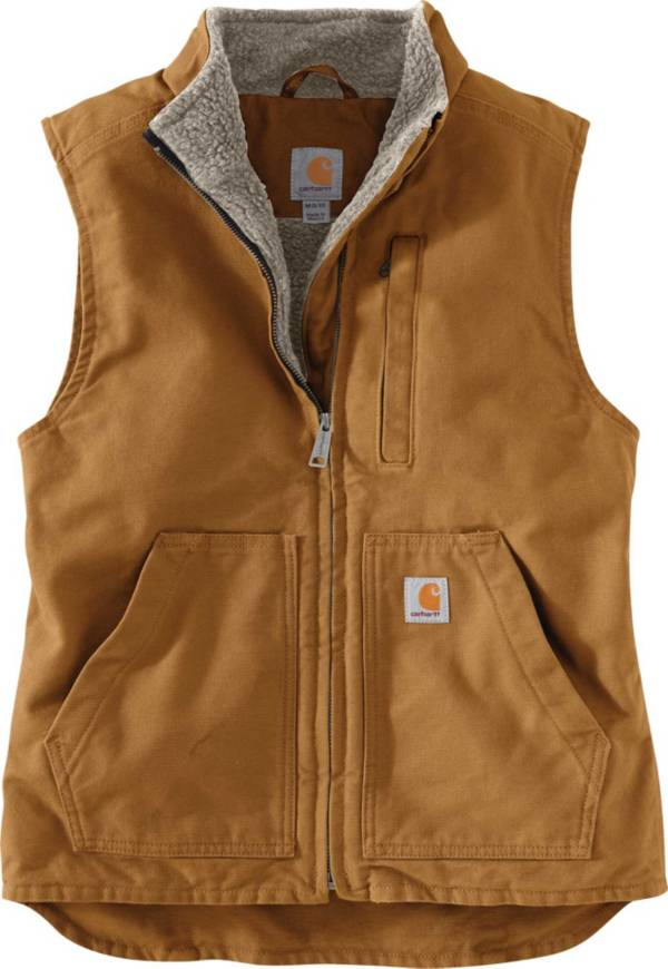 Carhartt Women's Relaxed Fit Washed Duck Sherpa Lined Vest product image