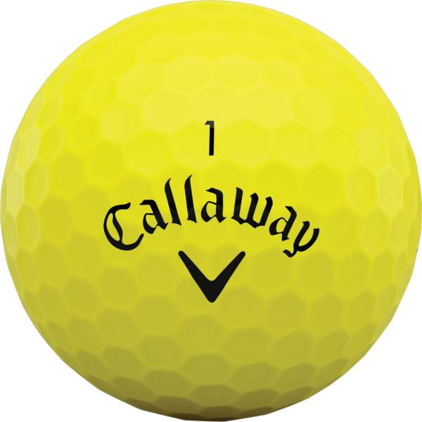 Callaway 2020 Superhot BOLD Yellow Personalized Golf Balls – 15 Pack product image