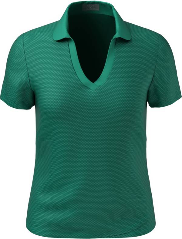 Callaway Women's Essential Swing Tech Printed Short Sleeve Polo Shirt product image