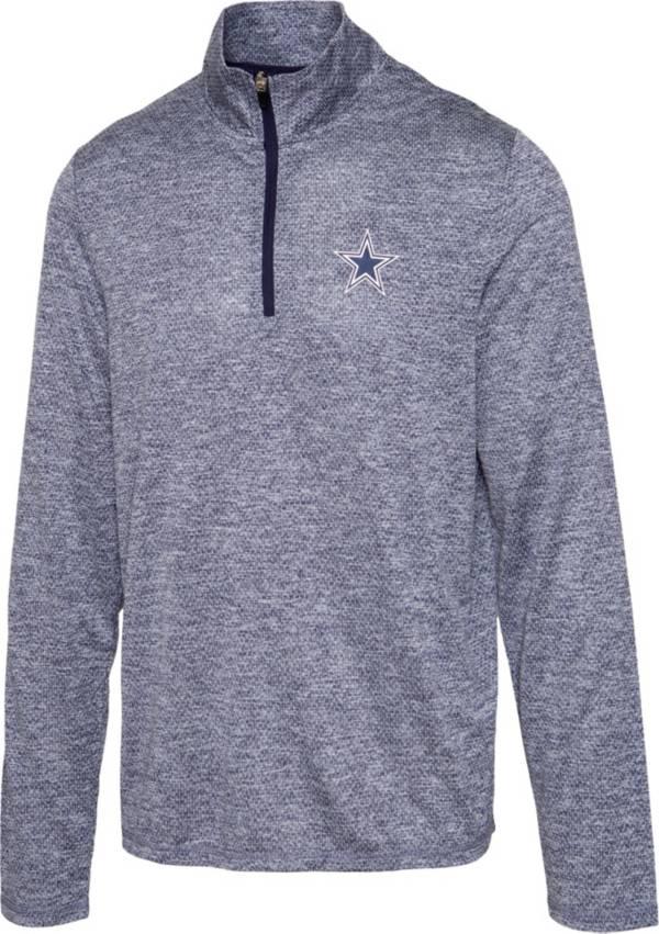 Dallas Cowboys Merchandising Men's Marvin Navy Quarter-Zip Pullover product image