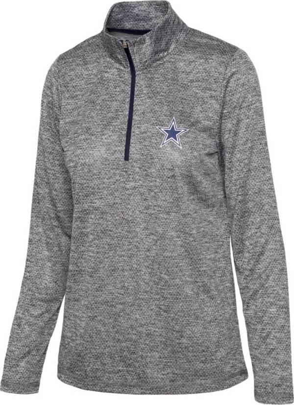 Dallas Cowboys Merchandising Women's Chancellor Charcoal Quarter-Zip Pullover product image